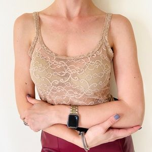 Intimissimi lace dusty rose tank top